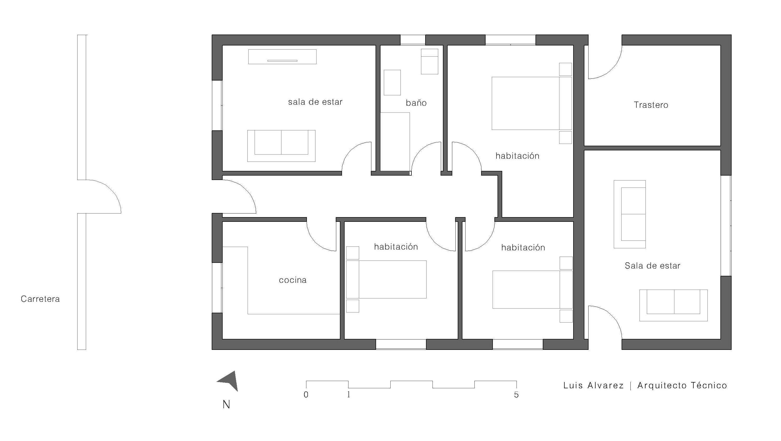 Plano vivienda langullo inmobiliaria trives for Planos para viviendas